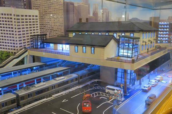長浜駅のジオラマ