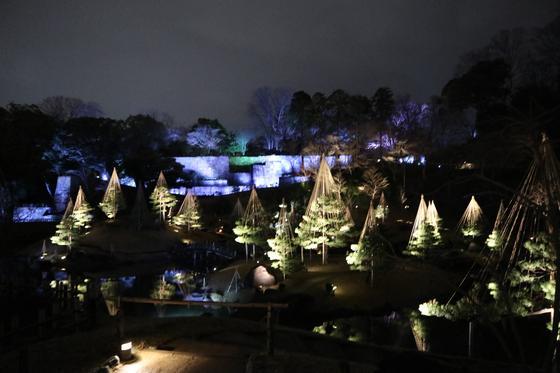 冬のライトアップ景色