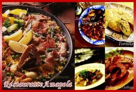 メニューはスペイン&地中海料理