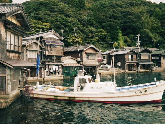 船屋の町並みがきれい