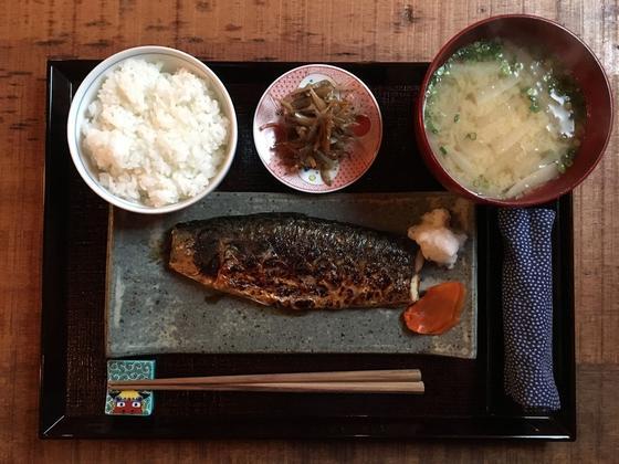 鯖の塩焼き定食 ¥1,000