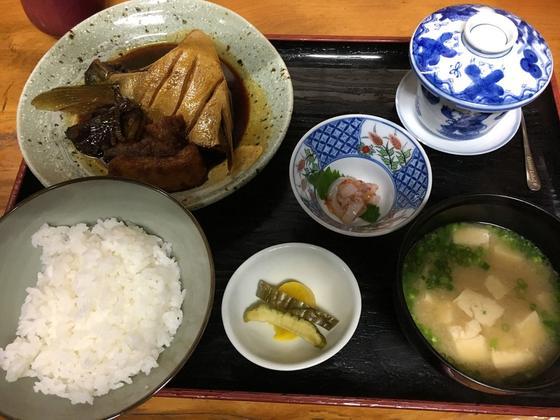 魚のあら煮定食