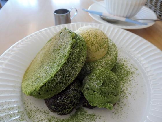 大和茶のパンケーキ