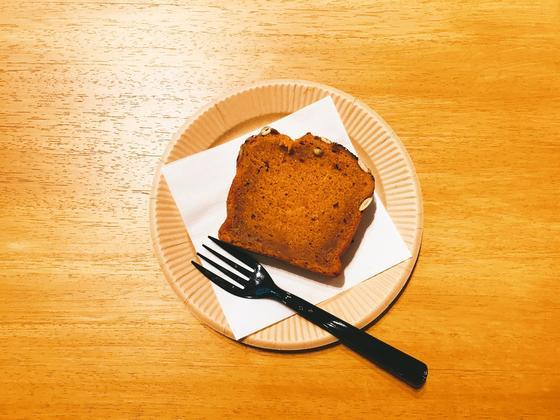 かぼちゃと黒ごまのパウンドケーキ