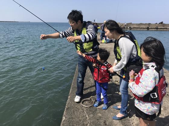 家族ではじめて釣り体験