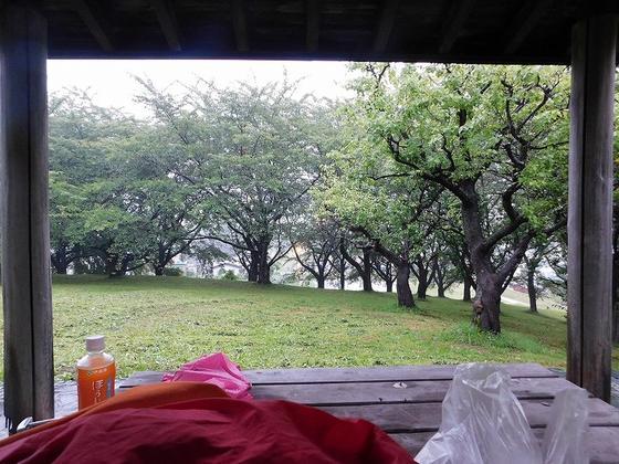 東屋からの風景