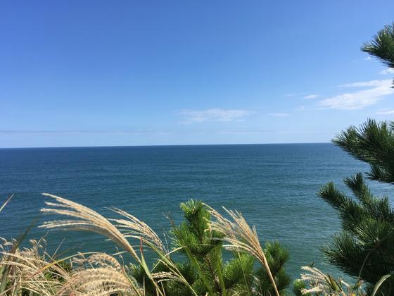 灯台から太平洋を眺望