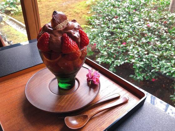 京都知新 チョコレートパフェ
