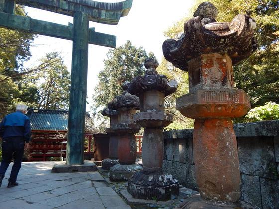 印象的な石燈籠