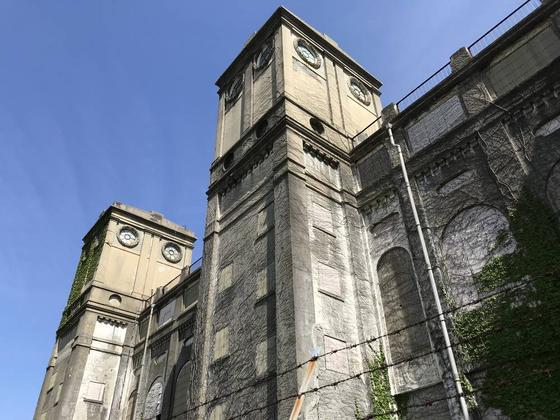 歴史建造物のアップ