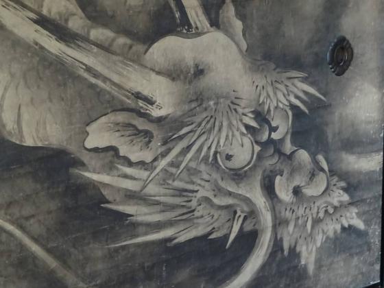 気迫に満ちた海北友松の龍