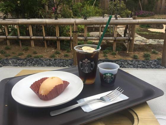 天候の良い日は日本庭園のような屋外のテラス席で。