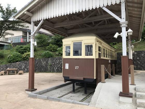 帰り際に見つけた電車の模型