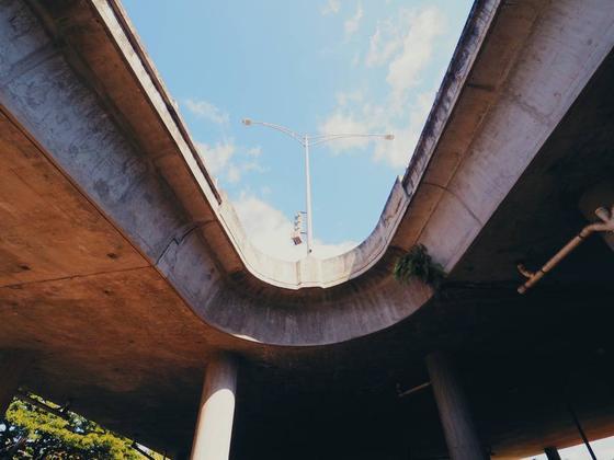 モアナルア・ガーデンズに行く道の分岐