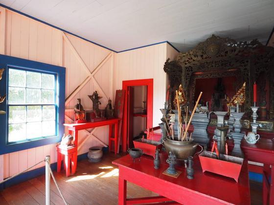 中国の宗教家具の展示