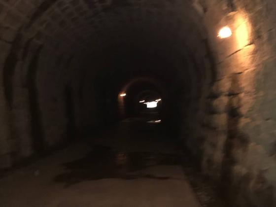 トンネル内も漆黒と静寂の世界