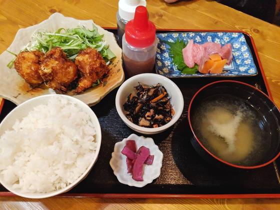 ホタテフライ定食