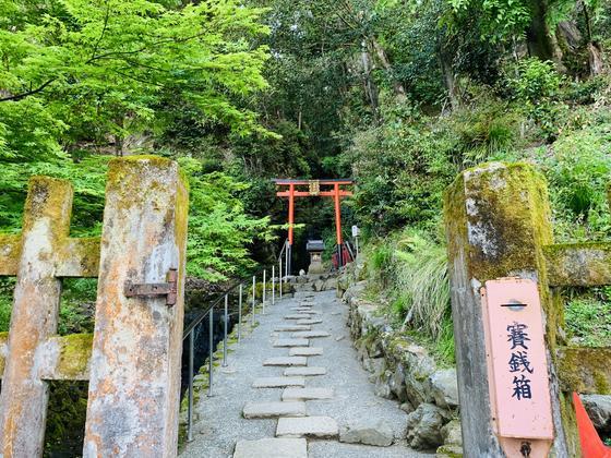 松尾山と霊亀の滝