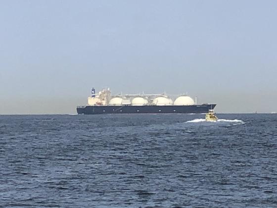 天然ガスのタンカー