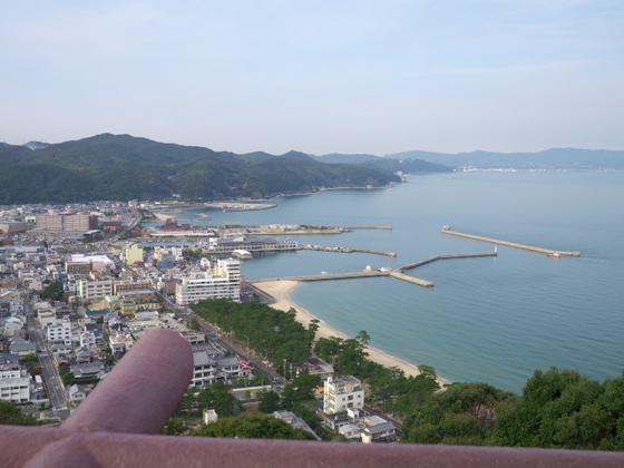 城からの眺めがキレイ