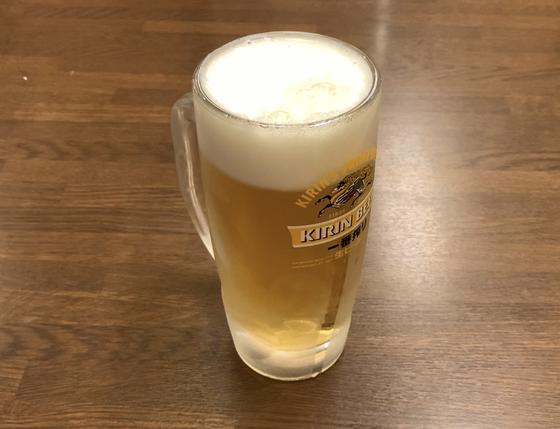 生ビール中ジョッキ  ¥550
