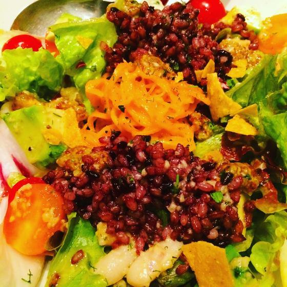 赤米サラダ