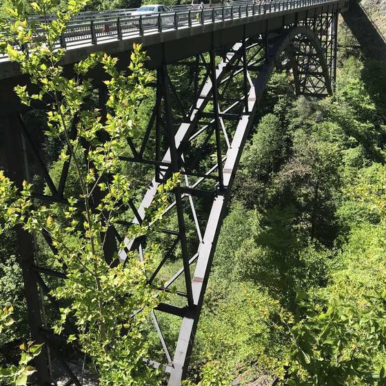 北アルプス大橋  高さ70m