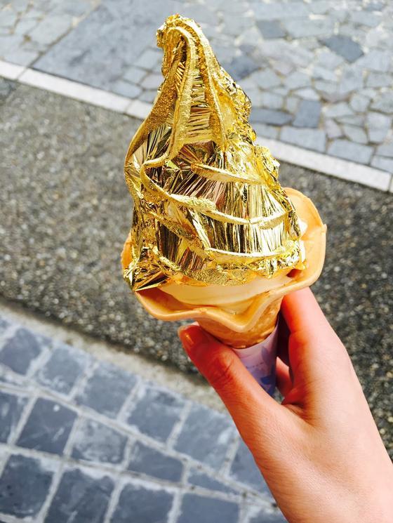 金箔ソフトクリーム