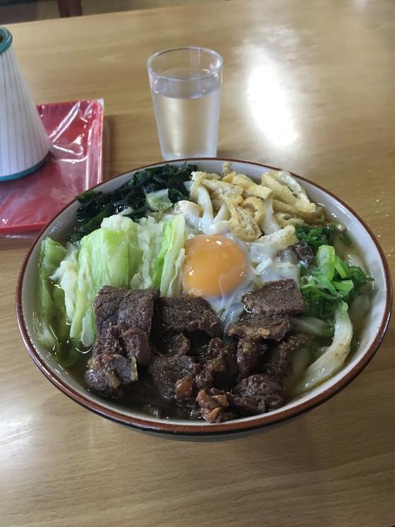 肉玉うどん(大)