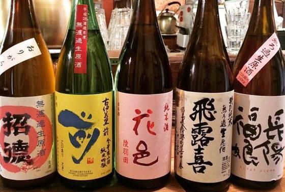 日本酒[冷](90ml) 390円・490円・590円 [燗]一合(180ml)から注文可