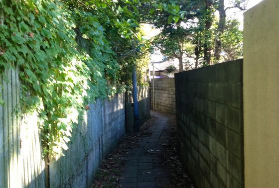 無名の路地裏