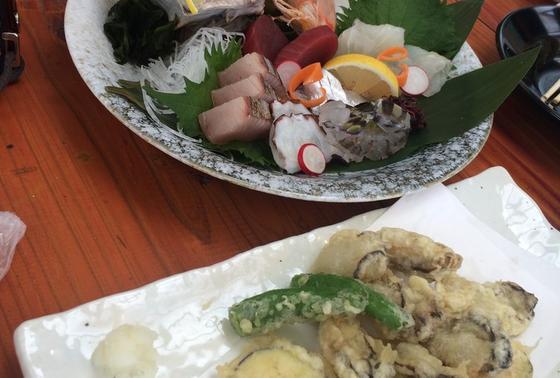 カキ天ぷら&刺身盛合わせ