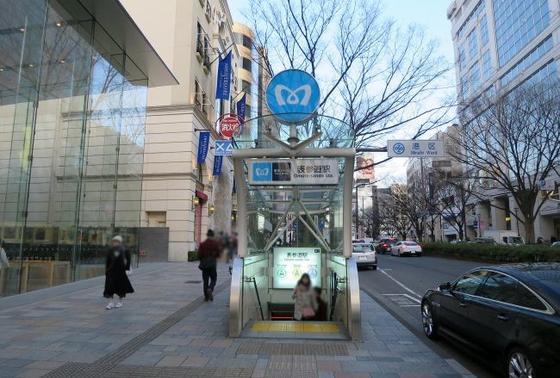 表参道駅から出発するならA2出口から!