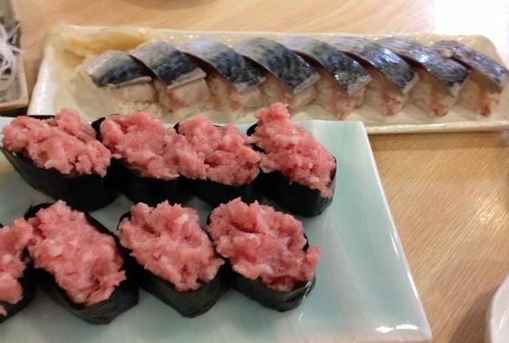 お寿司も人気です。
