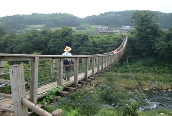 吊り橋からの眺めをぜひ☆