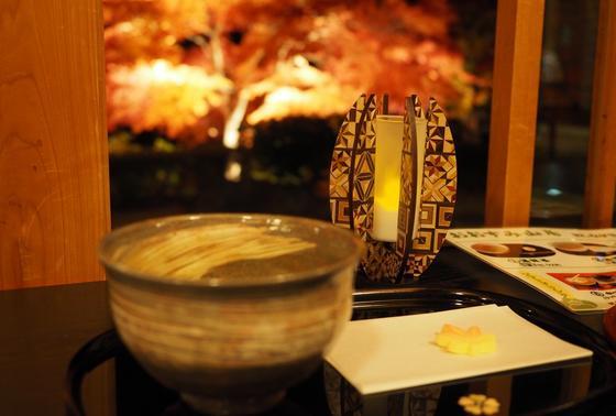 抹茶と紅葉のコラボw