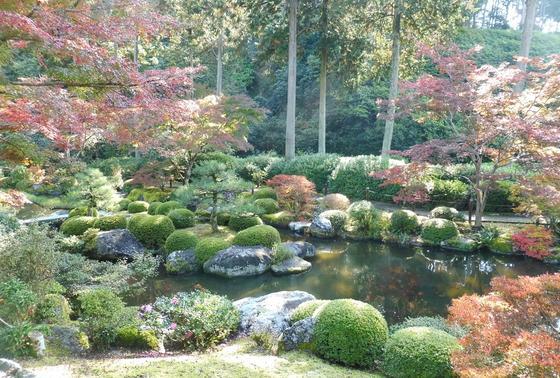 広い庭園を散策
