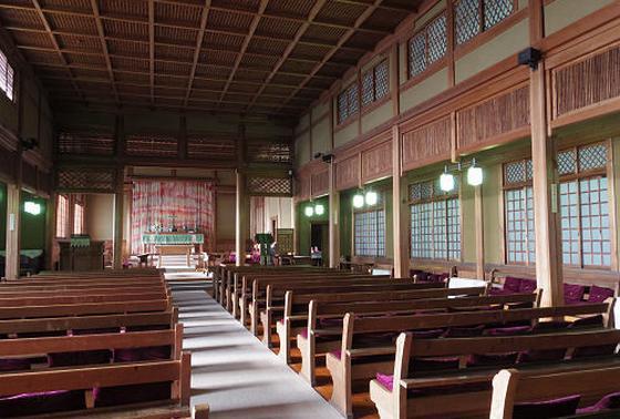 教会の内部です。