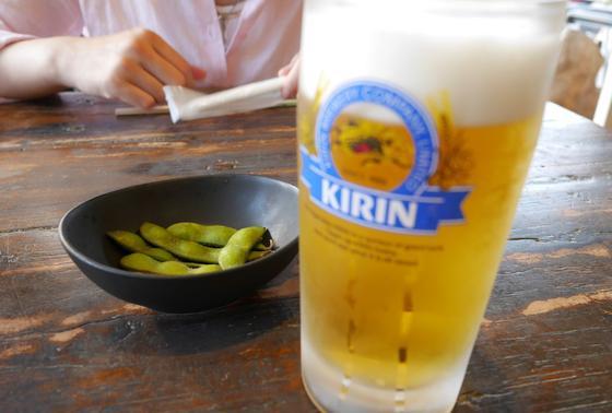 しらすにはビールが合いますw
