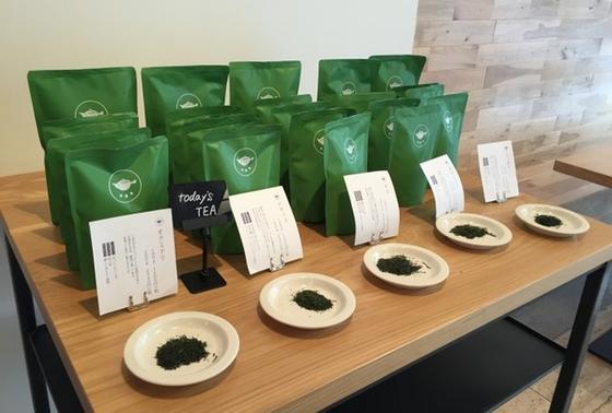 お茶の種類も豊富