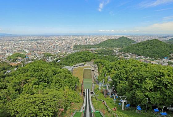 ジャンプ台の上から眺める景色