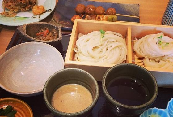 生麺と乾麺の食べ比べ!