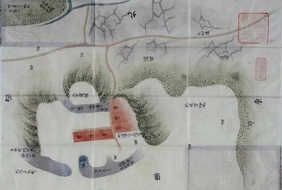 浅野家に伝わる真田丸絵図