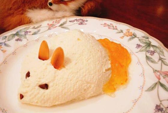 きつねのチーズケーキ