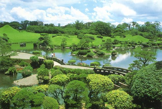 細川家の名園