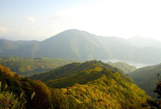 美しい峠からの眺め