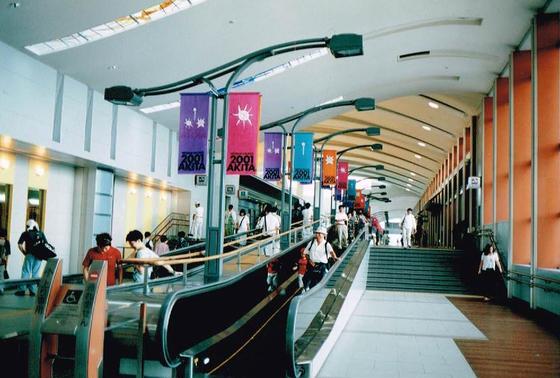 秋田駅はすっごく大きな駅