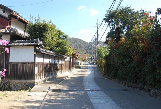 三室戸駅から徒歩で。