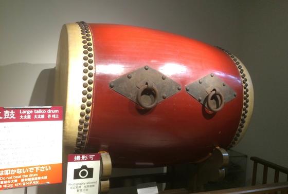 小倉城内の太鼓