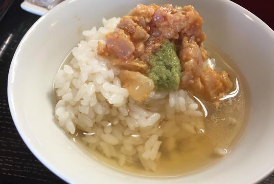 海鮮キムチ出し茶漬け!!